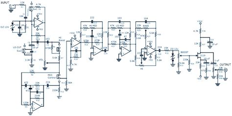 bass guitar pre pedal diy schematic pcb design
