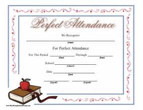 Attendance certificate for kids 8 best images of perfect attendance