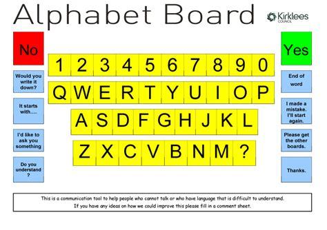 Patient Letter Board alphabet board aphasia board health health care and letter board