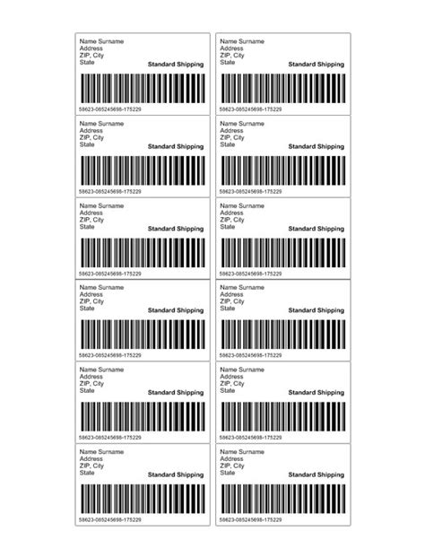 barcode label template shipping label template custom addess labels template