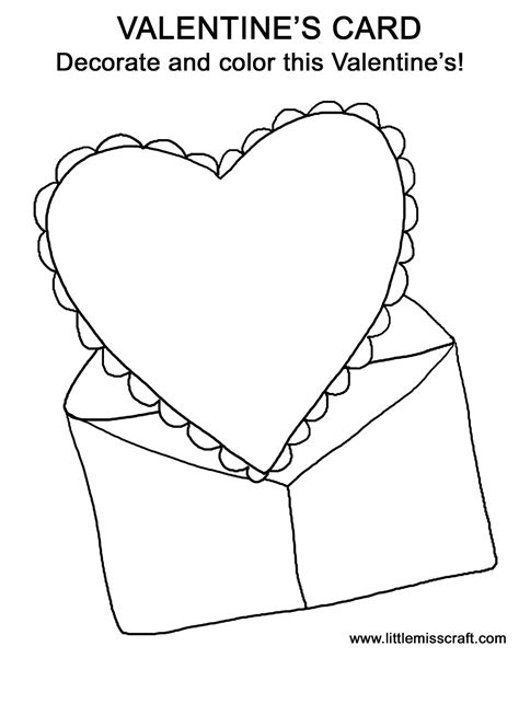 Valentine Card Coloring Pages Card Coloring