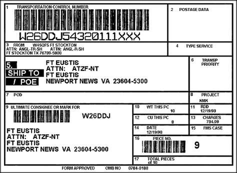 pallet label template fm 55 65 appendix a