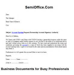 Partnership bank account opening request letter semioffice com