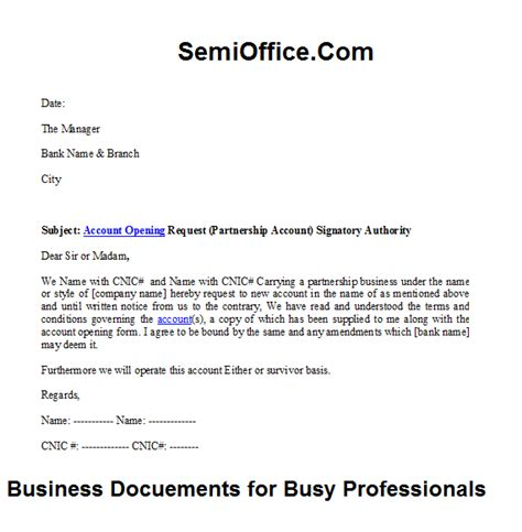 Request Letter Format For Joint Account Sle Business Letter Requesting Partnership Sle Business Letter