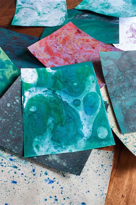 Marbled Paper Craft - 17 best images about diy projects on thread