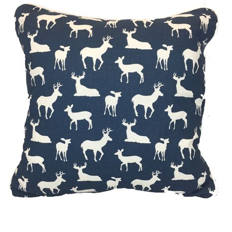 Navy Accent Pillow by Navy Throw Pillows Navy Woodland Pillows American Made