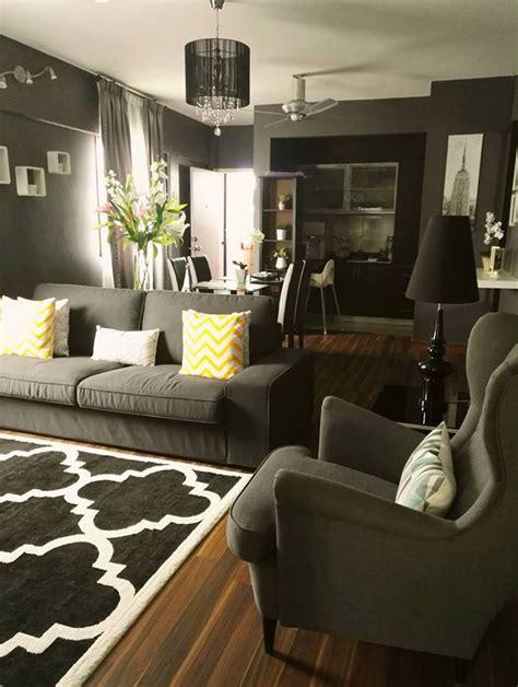 dekorasi rumah apartment tema hitam putih kelabu blog
