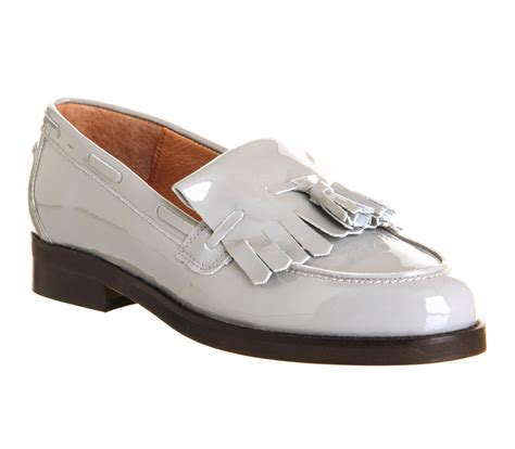 Maharani Loafer Flats Dir Co office extravaganza loafers new grey patent leather flats