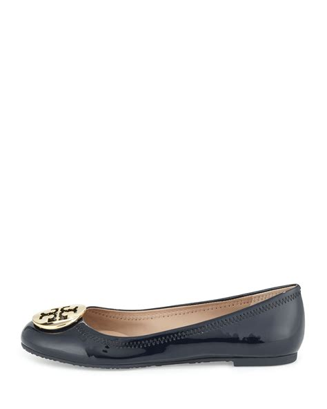 Going Burch Reva Ballet Flats by Burch Reva Patent Leather Ballet Flat In Blue Lyst