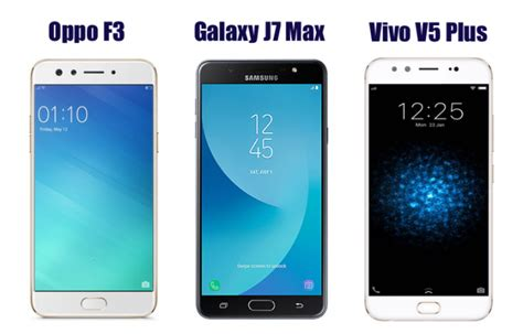 Samsung J7 Plus Vs Oppo F5 oppo f3 vs samsung galaxy j7 max vs vivo v5 plus price in india specifications and features