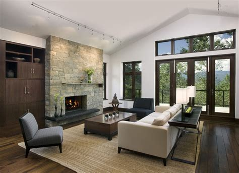contemporary livingroom mountain home living room contemporary living room