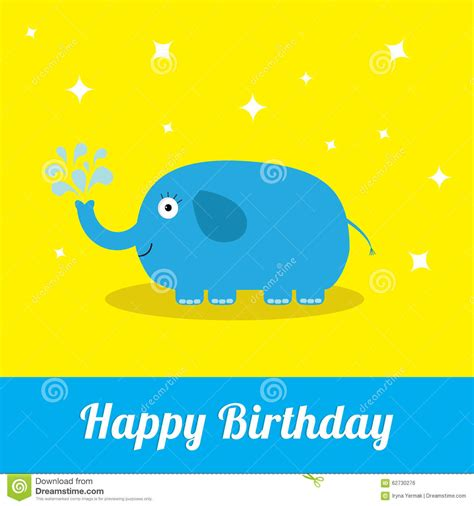 happy birthday thermocol design happy birthday card with cute elephant and fountain baby