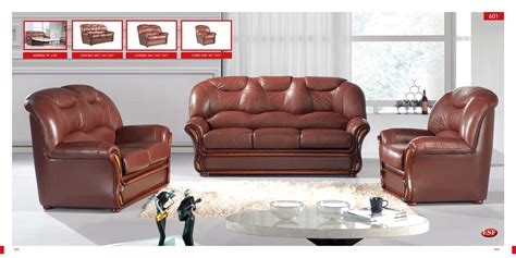 leather living room chairs sofa bed 601 brown leather by esf
