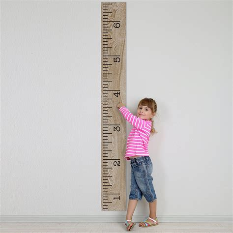 picture height kids growth chart decal stickers wall diy applications