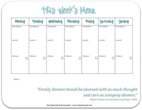 printable menu templates search results for free printable blank weekly menu