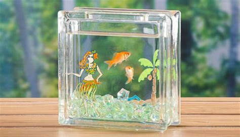 glass block craft projects painted glass blocks craft ideas