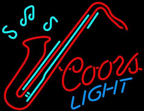 coors light neon sign coors light saxophone neon sign neon