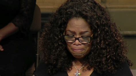 oprah winfrey voice over at memorial service a celebration of maya angelou s voice