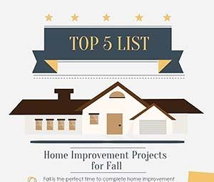 home improvement projects for fall infographic