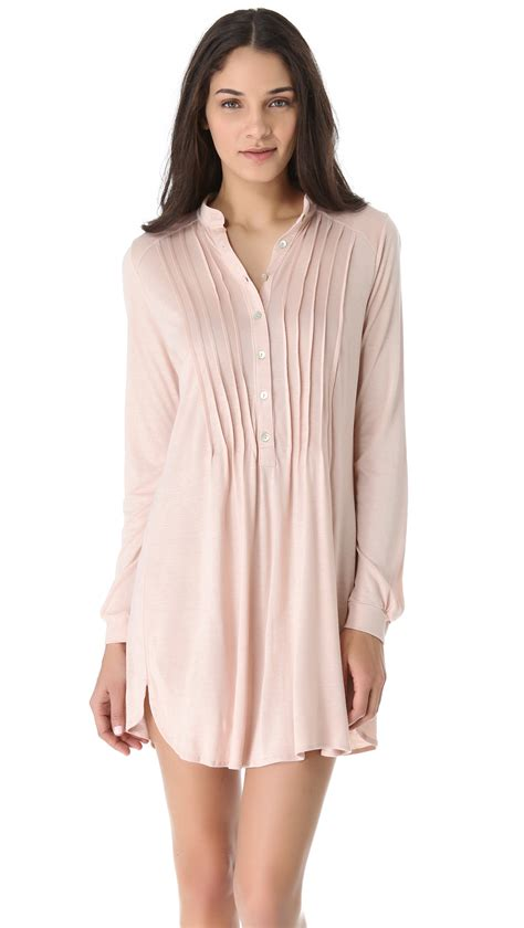 Sale Dresses 100 At Shopbop Part 3 by Eberjey Earth Sleep Shirt In Pink Blush Lyst