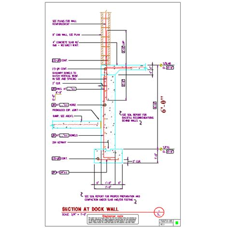 loading dock section fg07 0 dock wall foundation details axiomcpl central