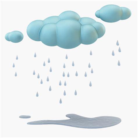 3d cloud 3d model cloud rain