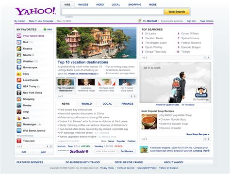 Home Page by All Sizes Yahoo Homepage Test May 2009 Flickr