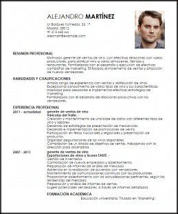 Modelo Curriculum Jefe De Ventas Modelo Curriculum Vitae Gerente De Ventas De Vino Livecareer