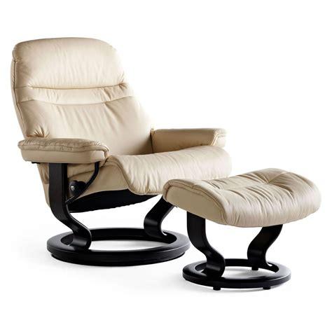 best stressless recliner stressless sunrise large recliner ottoman from 2 395 00