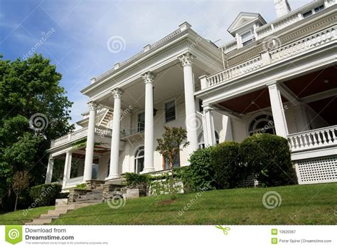Spanish House Designs large white mansion with columns editorial photography