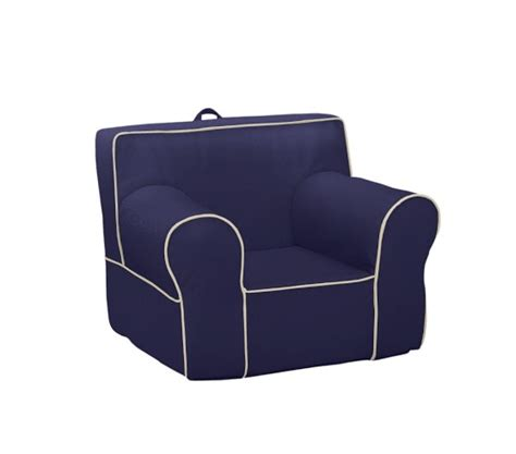 Oversized Anywhere Chair by Navy With Piping Anywhere Chair 174 Pottery Barn