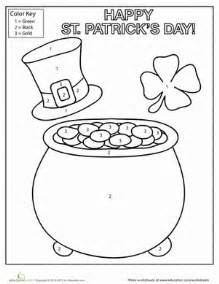 original color for st s day st s day coloring worksheet education