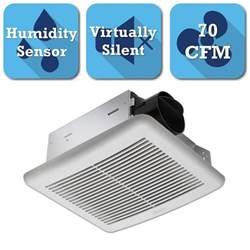 bathroom exhaust fan with humidity sensor delta breez slim series 70 cfm ceiling bathroom exhaust