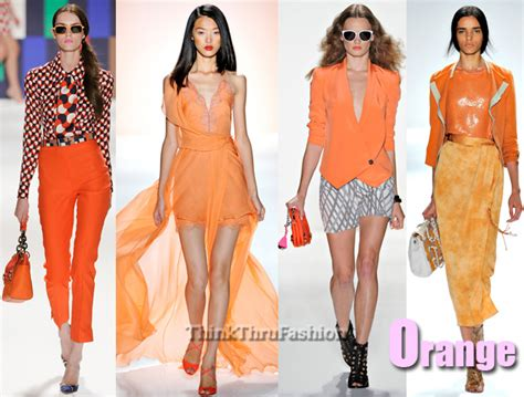 Fashion Orange 2012 new york fashion week trends orange
