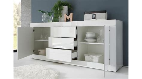 kommode 210 cm sideboard basic kommode wei 223 lackiert b 210 cm