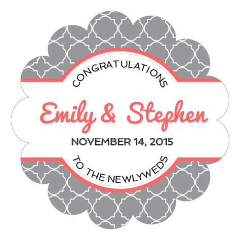 Wedding Labels by Wedding Label Templates Wedding Label Designs