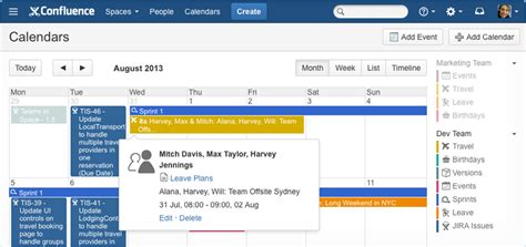 Calendars Wiki Use Confluence As Your Intranet Atlassian Documentation
