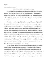 Of Michigan Honors Essay by National Honor Society Miki Patel National Honor Society Essay The Four Characteristics Of The