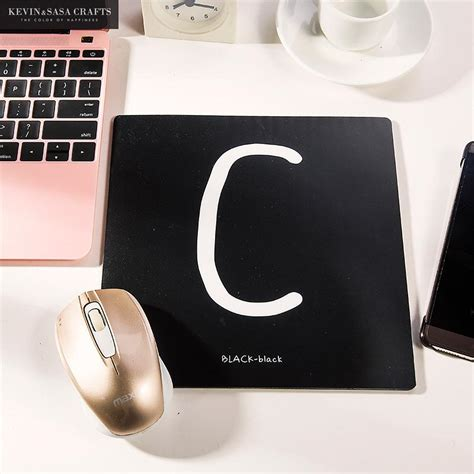 Office Desk Mat White Black Words Office Desk Accessories Black And White Desk Accessories