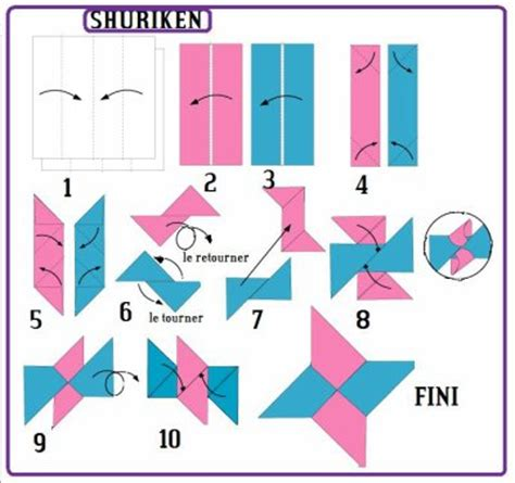 How To Make A Paper Shuriken Easy - shuriken c un des plu simple de origami du 59