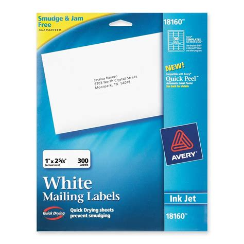 avery template 18160 avery address labels ld products