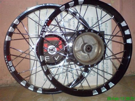 Velg Tdr Gold Mirror 1 Set 140 160 17 velg dbs black mata kucing dengan tromol depan