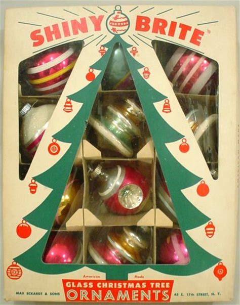 the story behind vintage quot shiny brite quot christmas ornaments