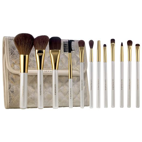 Brush Sephora sephora gold prestige pro brush set swatch and review