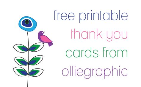 free printable thank you card template printable thank you cards free new calendar template site