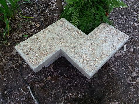 concrete garden bench hometalk diy chevron inspired concrete garden bench
