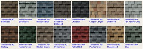 timberline shingles color chart timberline shingles color chart achten s quality roofing