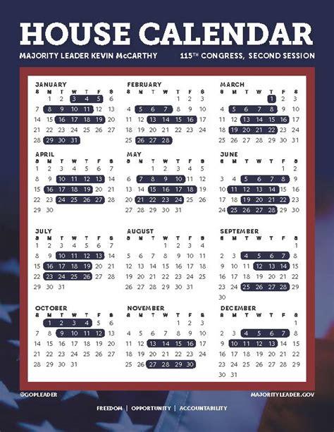 Congressional Calendar Congressional Calendar 115th Congress Azbio