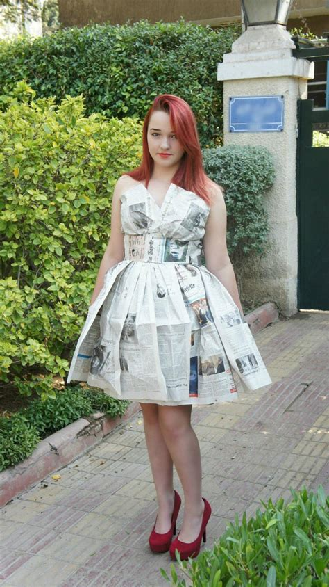How To Make A Dress Out Of Paper - recycled paper dress