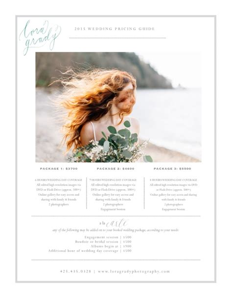 Wedding Photography Guide by My Pricing Guide Lora Grady Photography